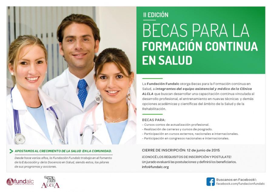 II Edición Becas para la Formación continua en Salud