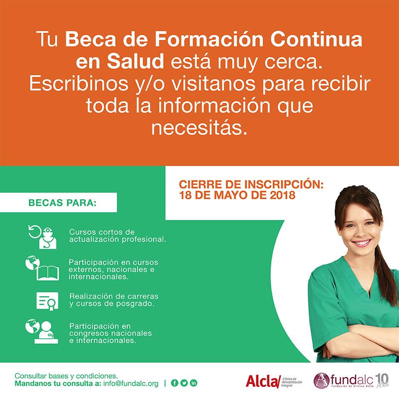 Beca de formación continua en Salud Alcla 2018